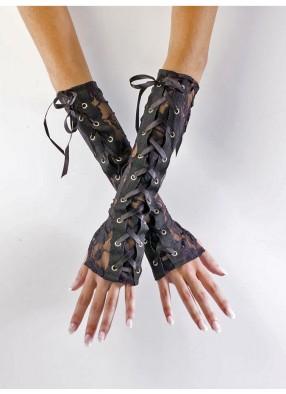 Готические кружевные перчатки
