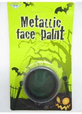 Грим зеленый металлик на Хэллоуин