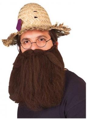 Густая коричневая борода с усами