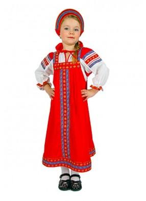 Хлопковый национальный костюм для девочки