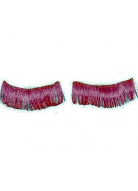 Яркие розовые ресницы