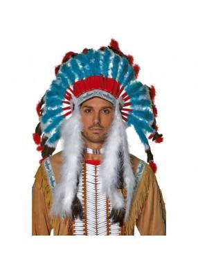 Яркий головной убор индейца