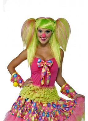 Яркий парик клоунессы