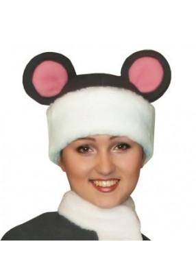 Карнавальная шапка Мышка взрослая