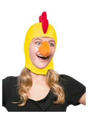 Карнавальная шапка желтая курица взрослая