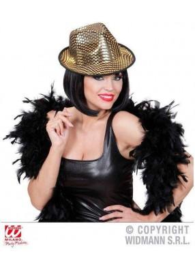 Карнавальная шляпа с золотыми блестками