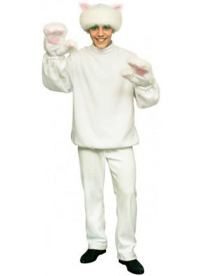 Карнавальный костюм Белого Кота  взрослый