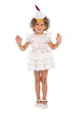 Карнавальный костюм белой курочки