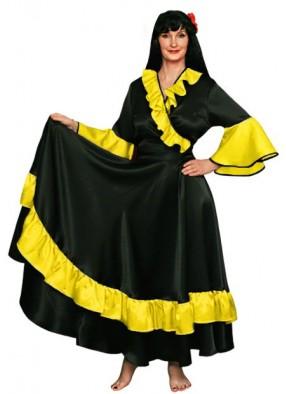 Карнавальный костюм Цыганки черно-желтый