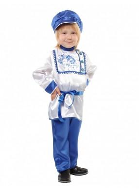 Карнавальный костюм для мальчика Гжель детский