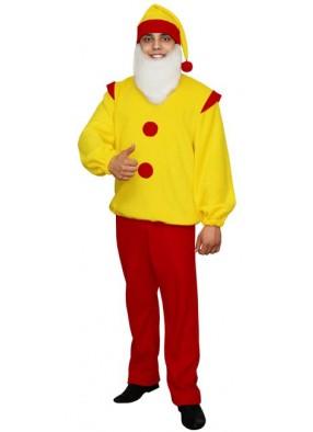 Карнавальный костюм Гнома желто-красный