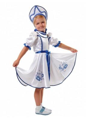 Карнавальный костюм Гжель для девочки