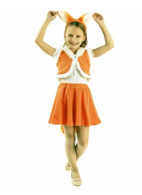 Карнавальный костюм Лисичка с юбочкой 1 фото