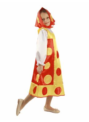 Карнавальный костюм Матрешка красная 1 фото