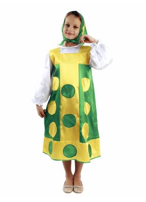 Карнавальный костюм Матрешка зеленая 1 фото