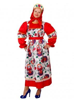 Карнавальный костюм матрешки для девушки