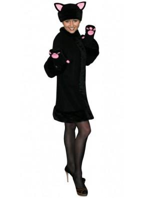 Карнавальный костюм мягкой Черной Кошки