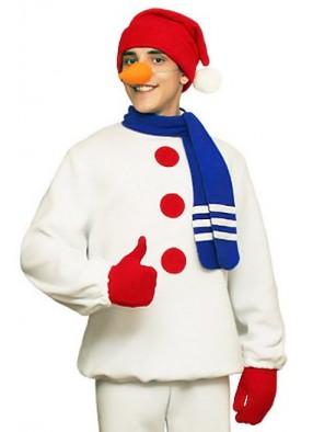 Карнавальный набор Снеговика с шарфом и носом-морковкой