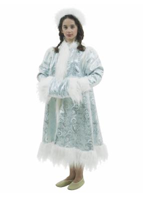 Карнавальный костюм Снегурочка голубая 1 фото