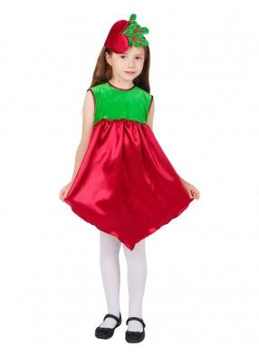 Карнавальный костюм свеклы для девочки