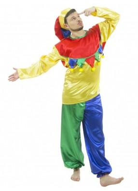 Карнавальный костюм веселого скомороха мужской