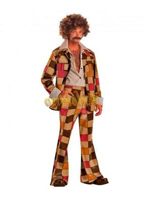 Клетчатый диско-костюм