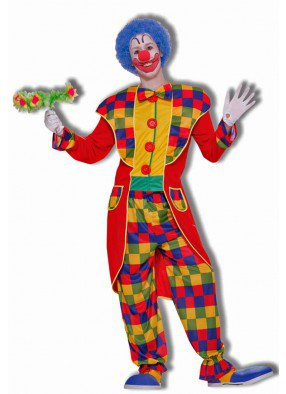 Клетчатый костюм клоуна
