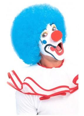 Клоунский парик голубой взрослый