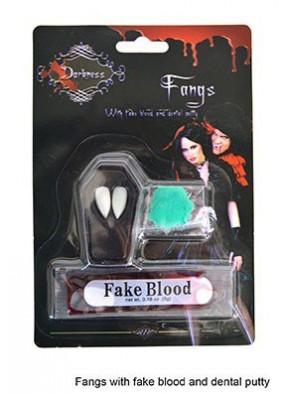 Клыки Вампира с кровью и пастой