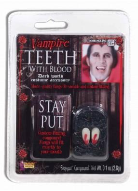 Клыки вампира с кровью фото