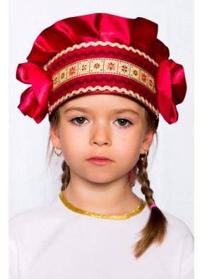 Кокошник бордовый для девочки