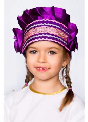Кокошник фиолетовый для девочки