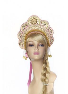 Кокошник Праздничный розовое золото