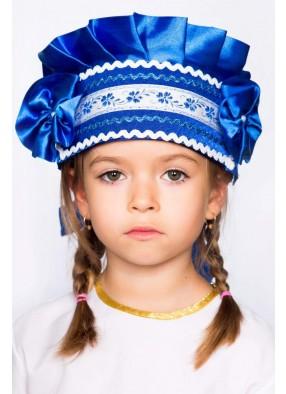Кокошник синий для девочки