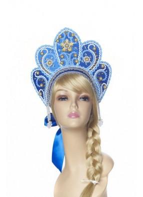 Кокошник Снежная Королева голубой