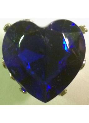Кольцо в форме синего сердца