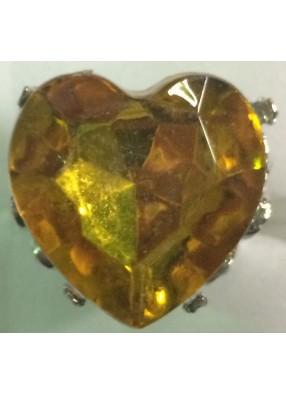 Кольцо в форме желтого сердца