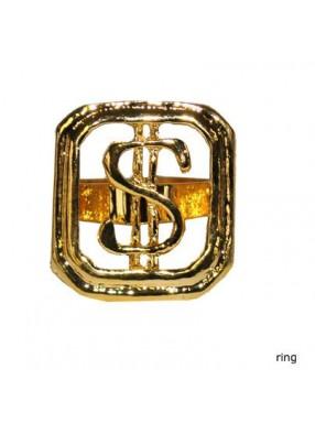 Кольцо золотой Доллар