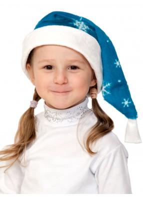 Колпак синий плюшевый детский