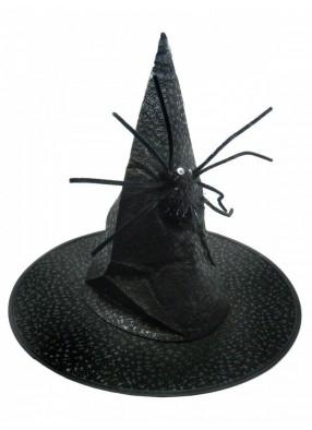 Колпак Ведьмы черный с пауком 1 фото