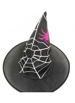 Колпак ведьмы с блестящим пауком