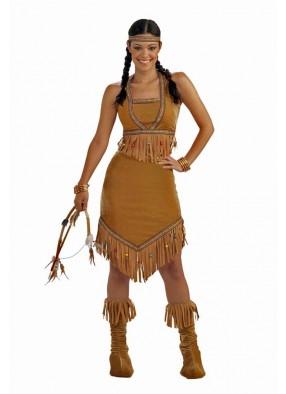 Коричневый костюм индейской принцессы