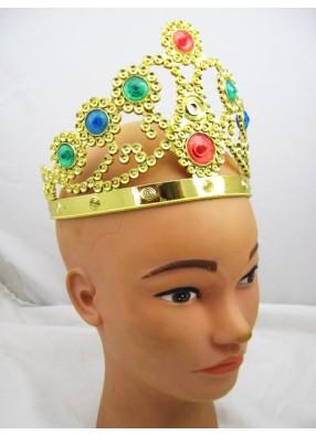 Корона со стразами пластик.