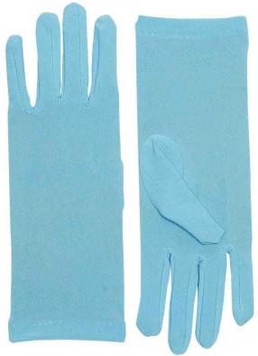 Короткие голубые перчатки