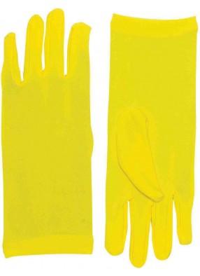 Короткие желтые перчатки