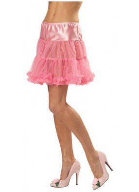 Короткий розовый подъюбник
