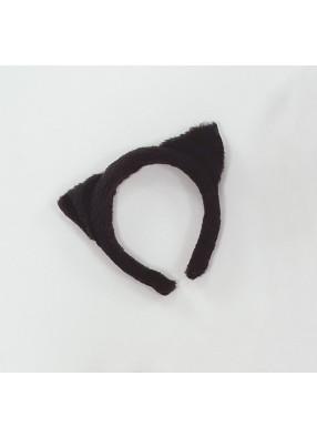 Кошачьи ушки с черным мехом