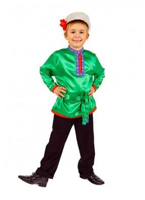 Косоворотка для мальчика зеленая