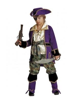 Костюм капитана пиратов лиловый фото