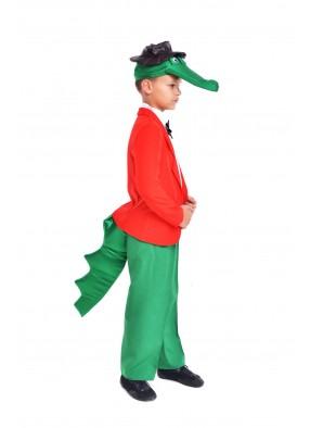 Костюм Крокодила Гены зелено-красный